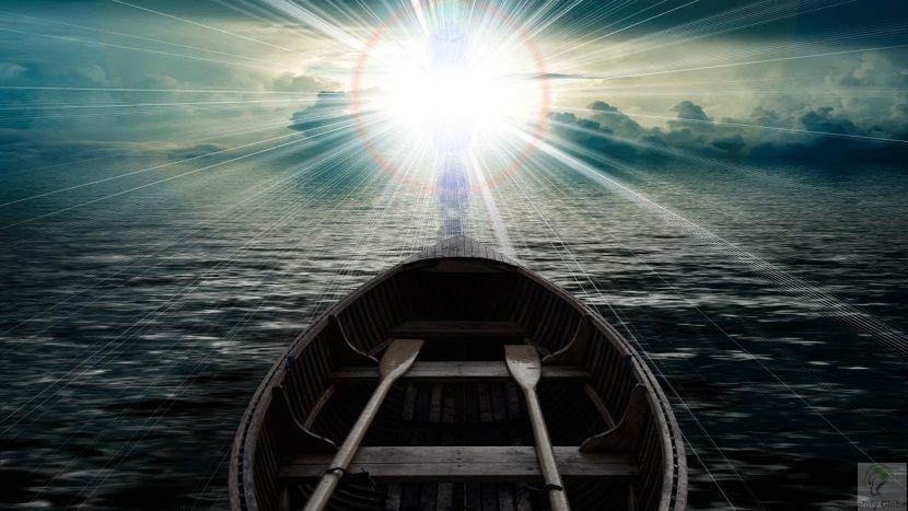 clouds boat
