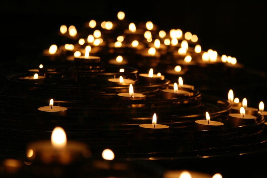 lightened candles